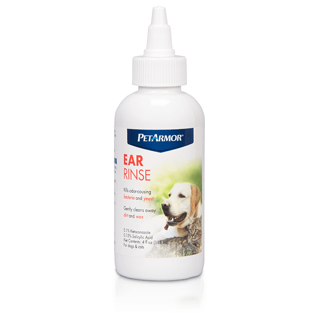 PetArmor Medicated Ear Rinse for Dogs and Cats