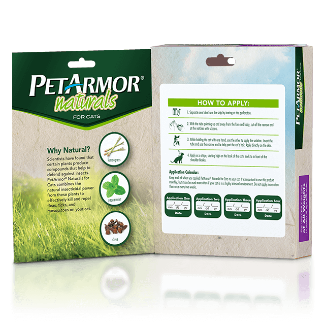 PetArmor Naturals Flea and Tick Topcial for Cats - Inside Panel
