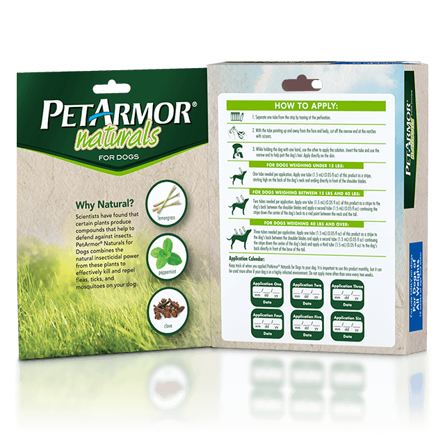 PetArmor Naturals Flea and Tick Topical for Dogs - Book Fold