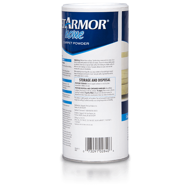 Package Shot: PetArmor Home Carpet Powder - Back Panel
