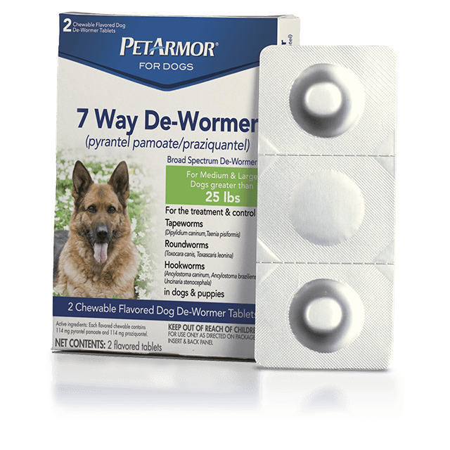 PetArmor 7 Way De-Wormer for Medium and Large Dogs
