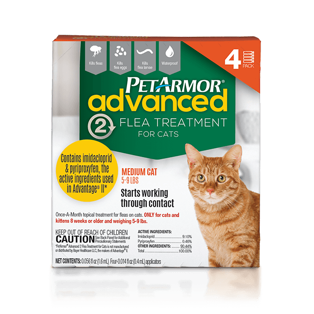 PetArmor Advanced 2 Flea Treatment for Medium Cats (3 to 10 Pounds)