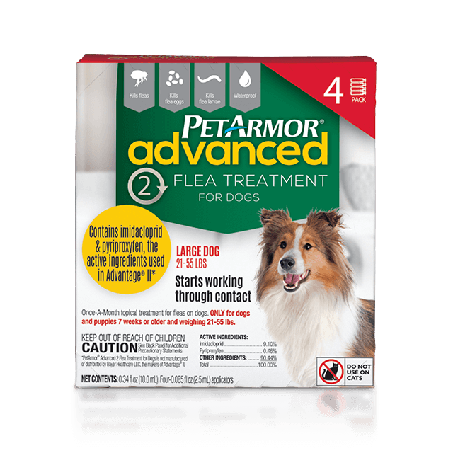 PetArmor Advanced 2 Flea Preventative for Large Dogs (21 to 55 Pounds)
