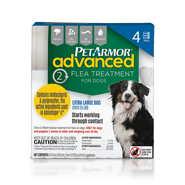 PetArmor Advanced 2 Flea Preventative for Extra-Large Dogs (Over 55 Pounds)