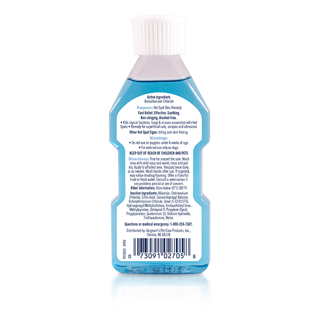 PetArmor Medicated Ear Rinse for Dogs - Back Label