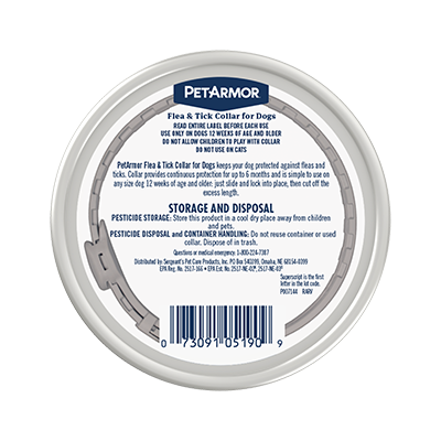 Package Shot: PetArmor Flea and Tick Collar for Dogs - Back