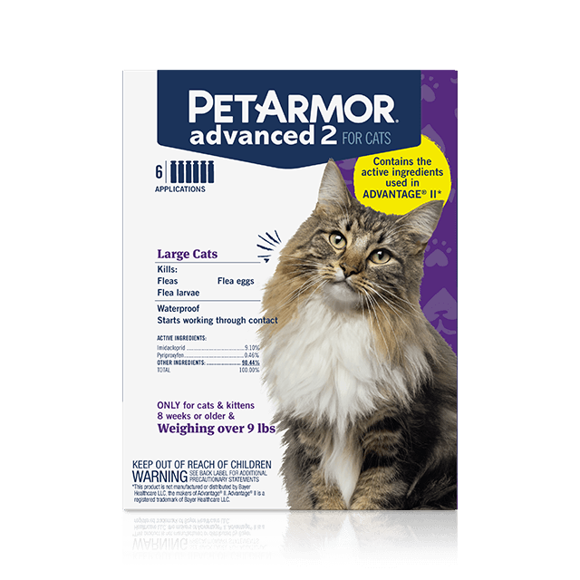 PetArmor Advanced 2 Flea Treatment for Large Cats